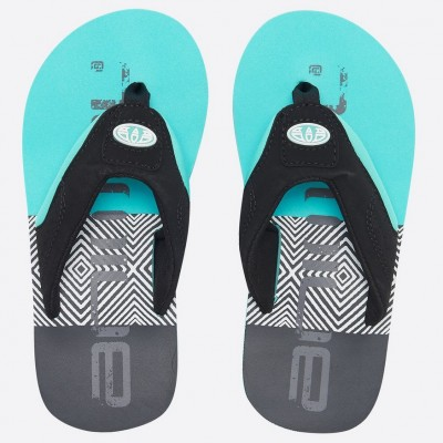 Animal Jekyl Logo Boys Flip Flop - Pacific Blue