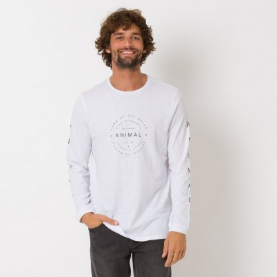 Animal Fear Long Sleeve T-shirt - White