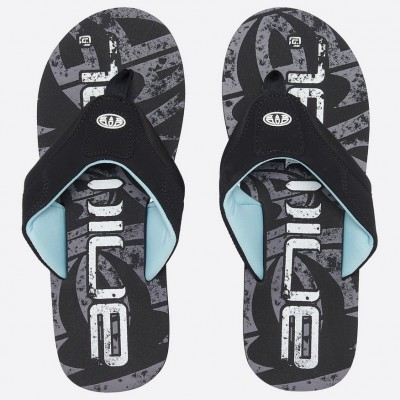 Animal Mens Jekyl Logo Flip Flop - Black