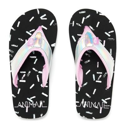 Swish Glitz Girls Flip-Flops - Black