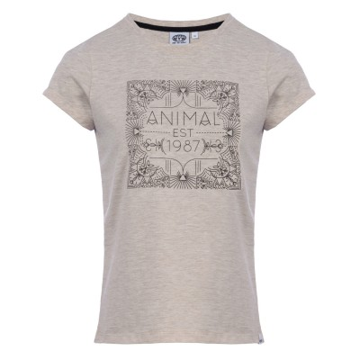 Akutan Animal T-shirt - Vanilla Cream Marl