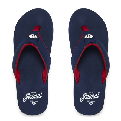 Bazil Animal Flip-flops Dark Navy
