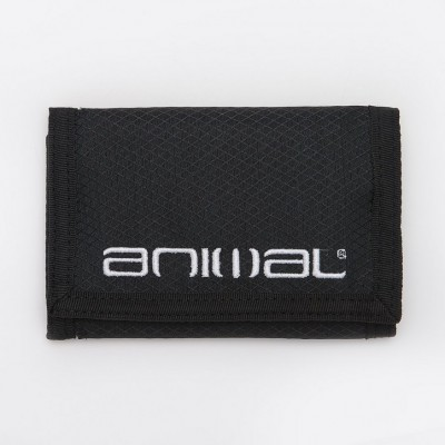 Animal Vex 3 Leaf Wallet - Black