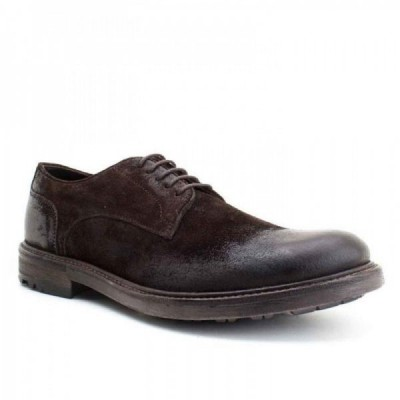 Nitrogen Base London Shoes Greasy Suede Brown