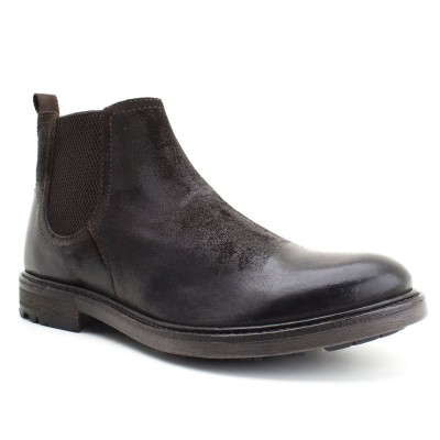 Sodium Base London Boots Greasy Suede Brown
