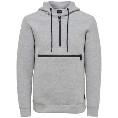 Gabe Only&Sons Sweat - Grey Melange