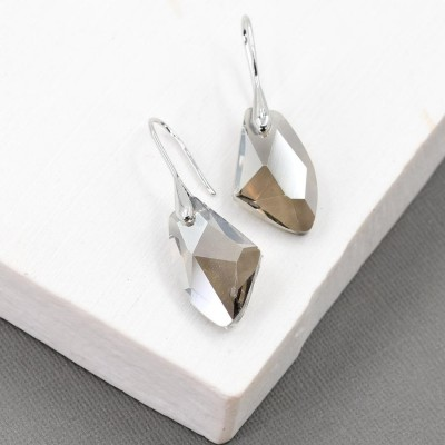 Irregular Shape Crystal Earrings