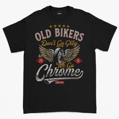 Oldies Club 'Old Biker' T-shirt - Black