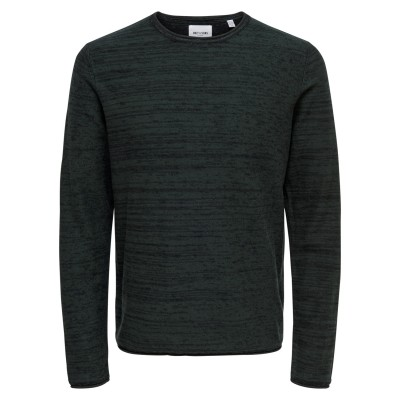 Catre Only&Sons Knitted Crew Neck - Darkest Spruce