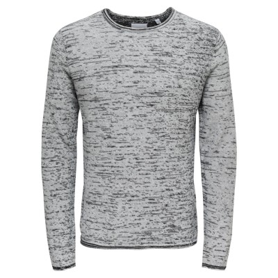 Catre Only&Sons Knitted Crew Neck - White Melange