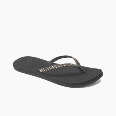 Reef Bliss Embellish Flip Flops - Black/Bronze