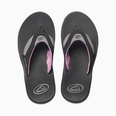 Reef Fanning Flip flops - Black/Grey