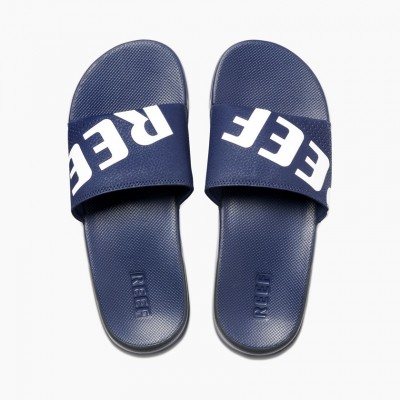 Reef One Slide - Navy/White