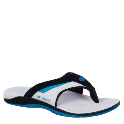 Fader Men's Animal Flip Flop - White