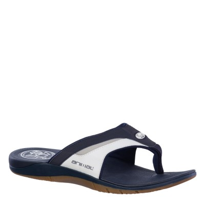Fader Men's Animal Flip Flop - Navy