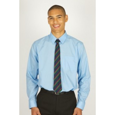 "Blue Long Sleeve Easycare Shirt 2pk  (13""-14"")"