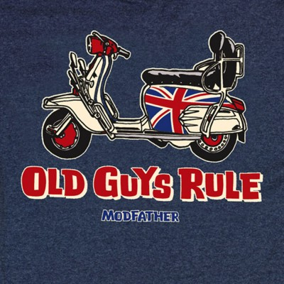 Old Guys Rule Modfather T-shirt - Indigo Blue