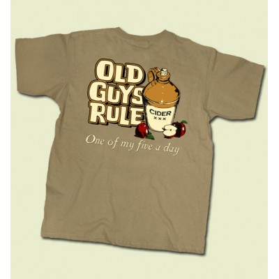 Old Guys Rule One Of My Five A Day T-shirt