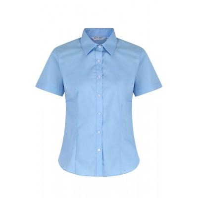"""Blue Short Sleeve Blouses 2Pk  (36""""-44"""")"""