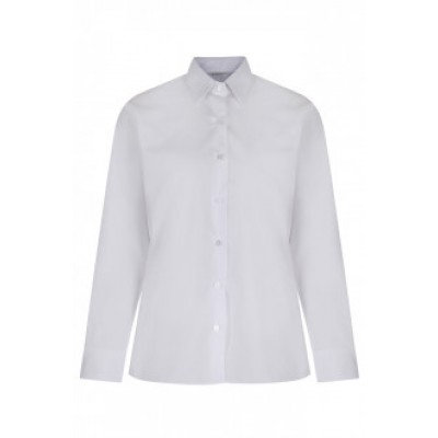 "White long sleeve easy iron blouses 2pk  (36"" - 44"")  £16.99 - £19.99"