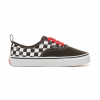 Authentic Checkerboard Elastic Lace Toddler Vans Shoes - Black/Red