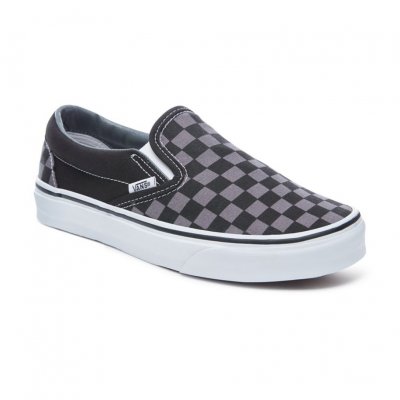 Asher CheckersSlip On Vans Shoes - Black/Pewter