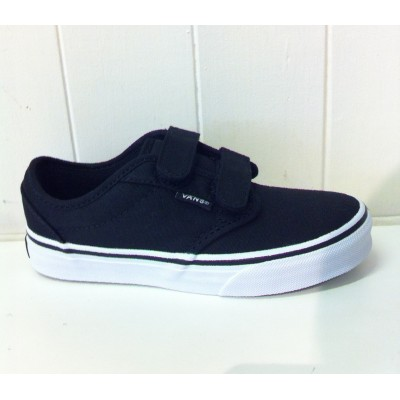 Toddler Atwood (canvas) Black/White Vans