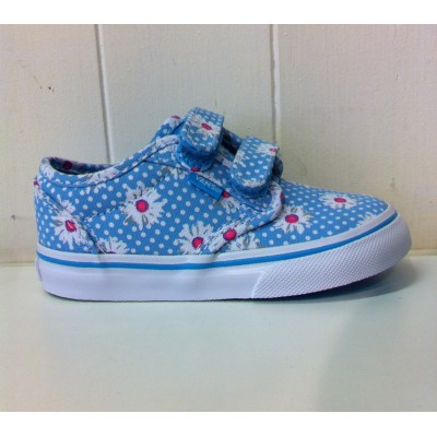 Toddler Atwood V (Flower) Blue Atoll/White