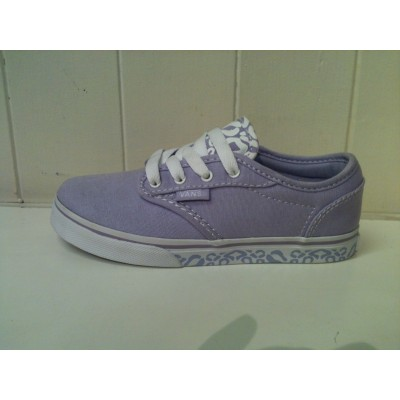 Girls Atwood (Cheetah Pastel Lilac/White Vans