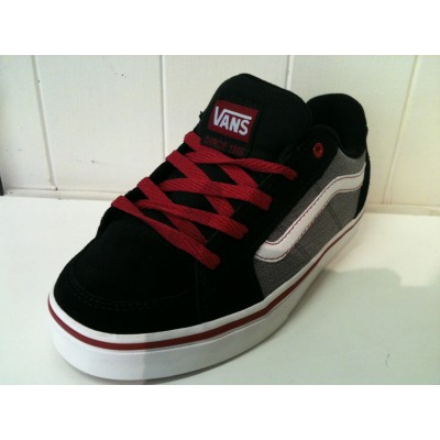 Boys Transistor (buck textile) Black/Red Vans