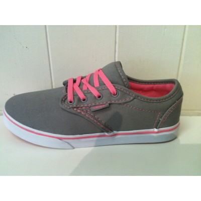 Girls Atwood (canvas) Grey Pink Lemonade Vans