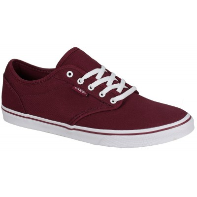 Atwood Low (Canvas) Burgundy/White