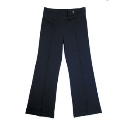 2 Button Lycra Bootleg Black Trouser (14 Years -  Ladies 18)*